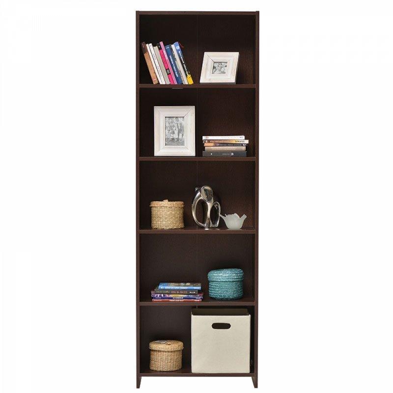 """Βιβλιοθήκη """"BUKI"""" WENGE 5 ράφια  57x24,5x175,5εκ"""