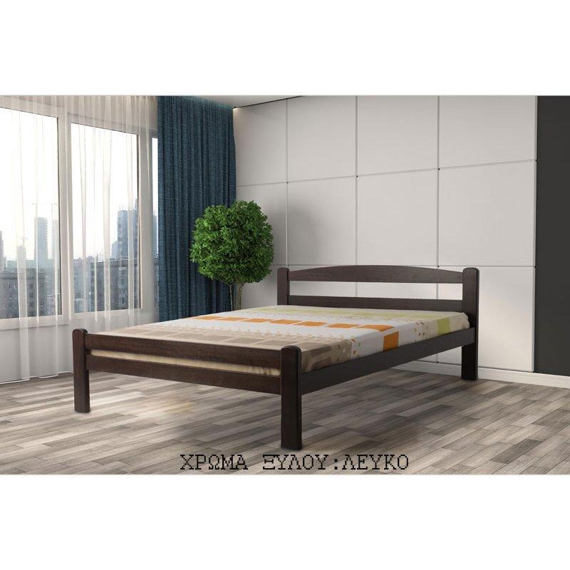 Κρεβάτι ξύλινο λευκό