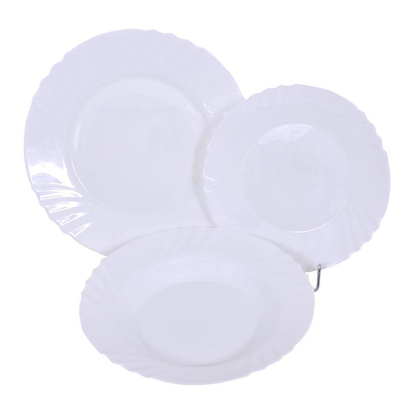 Σετ Φαγητού Λευκό 18 Τεμαχίων