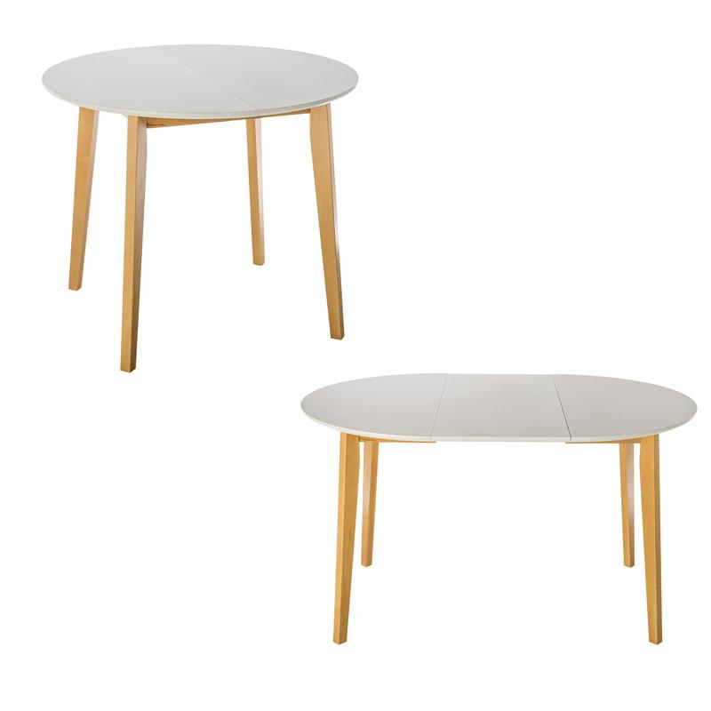 Τραπέζι τραπεζαρίας max s λευκό στρογγυλό ανοιγώμενο       90x90x75εκ