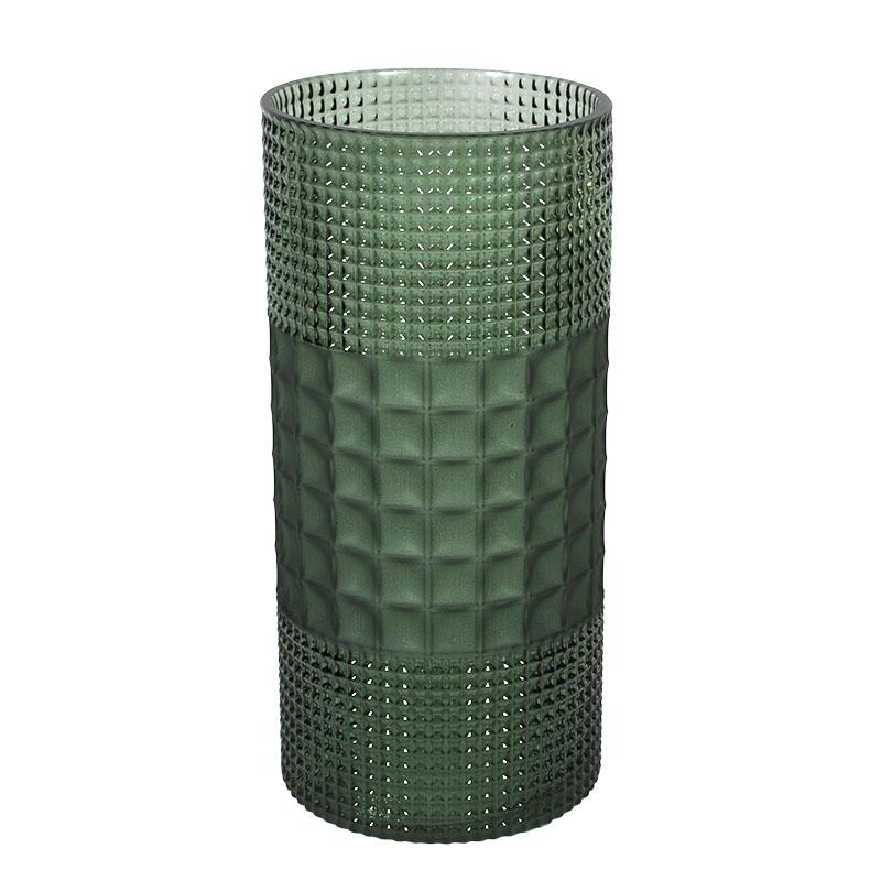 Bάζο Γυάλινο Πράσινο 12x12x25εκ