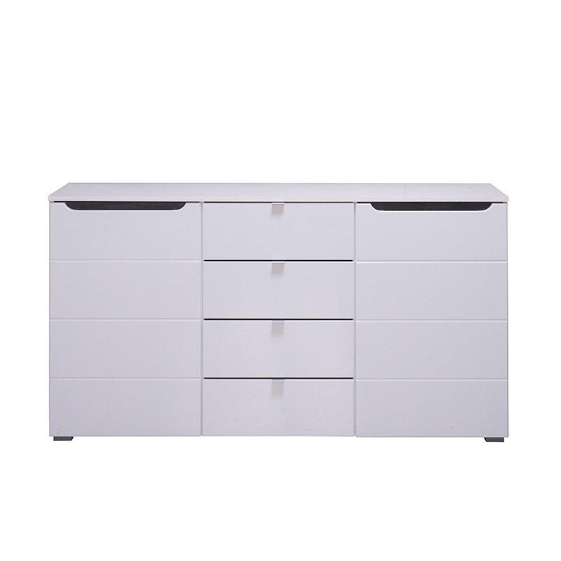 """Kομότα """"Karl 3K4F"""" Λευκό-Black Grey Wood-Λευκή Λάκκα 150x42x80.5εκ"""
