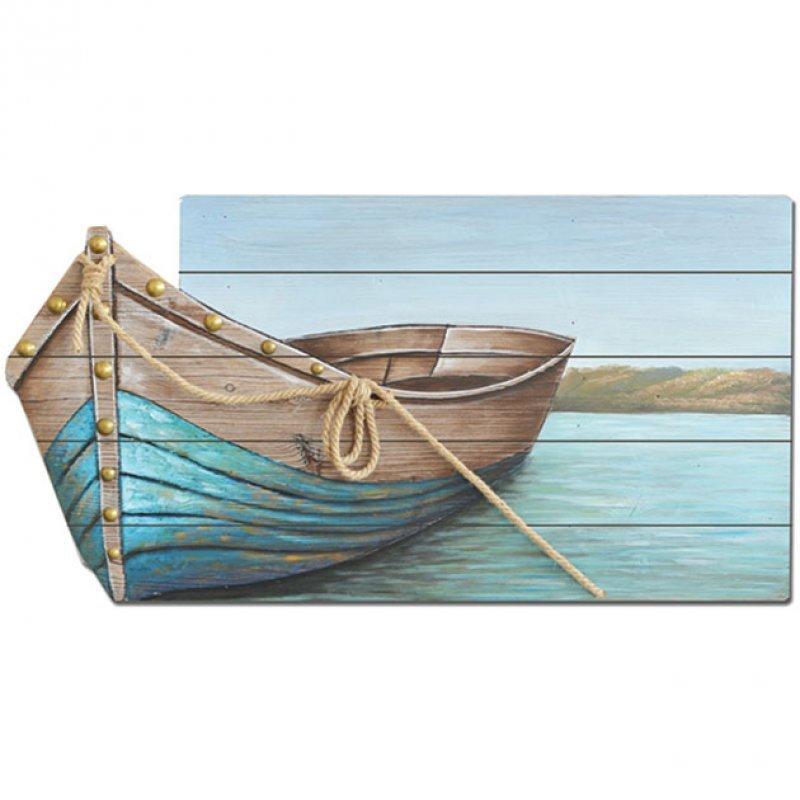 """Πίνακας Ξύλινος """"Βάρκα 3D"""" 50x100εκ"""