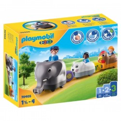 Τρενάκι Με Βαγόνια Ζωάκια 70405 Playmobil
